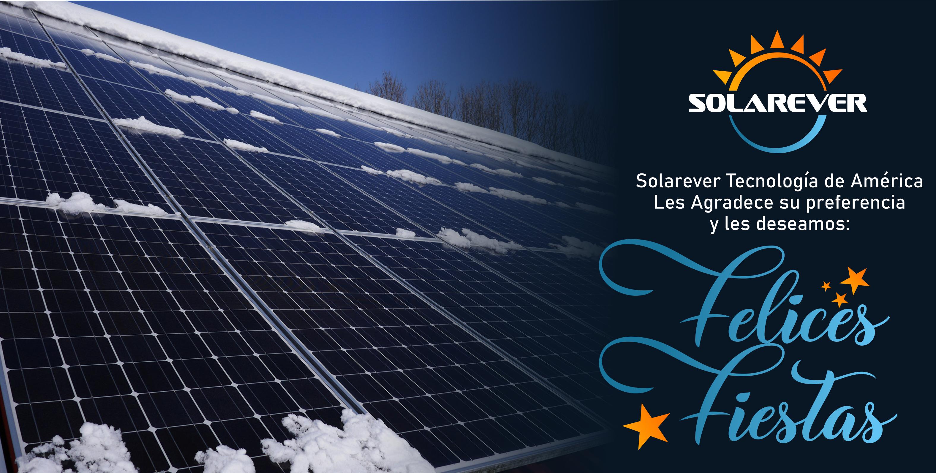 Solarever Tecnología de América les desea felices fiestas