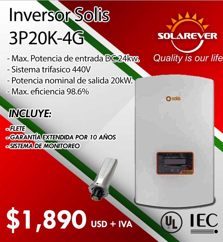 Promoción de septiembre - Inversor SOLIS 20KW 4G