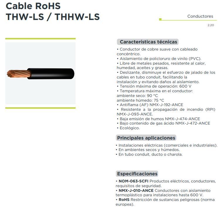 Cable fotovoltaico CA  NOM 063 SCFI
